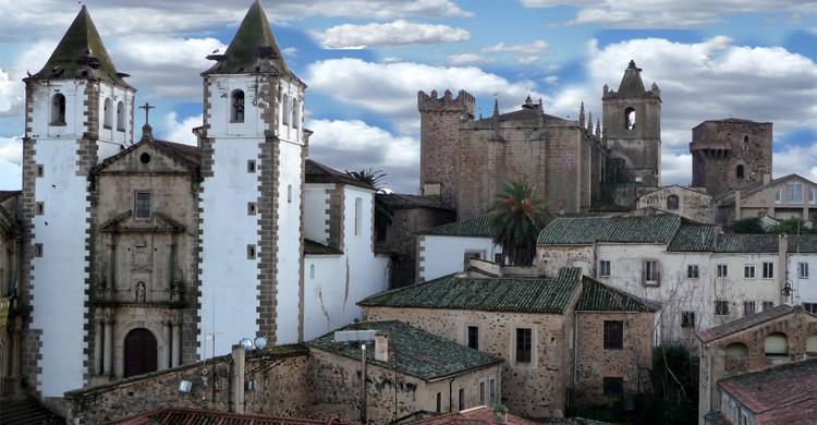 Vistas del casco histórico de Cáceres (Flickr)