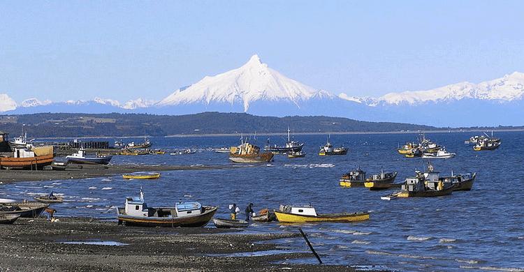 vistas del volcán Corcovado - Quellón (wikipedia)