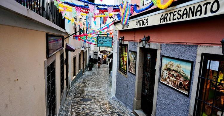 Calle característica de Sintra. Raúl A.- (Flickr)