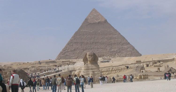 Pirámides y esfinge en El Cairo. Carlos Reusser Monsalvez (Flickr)