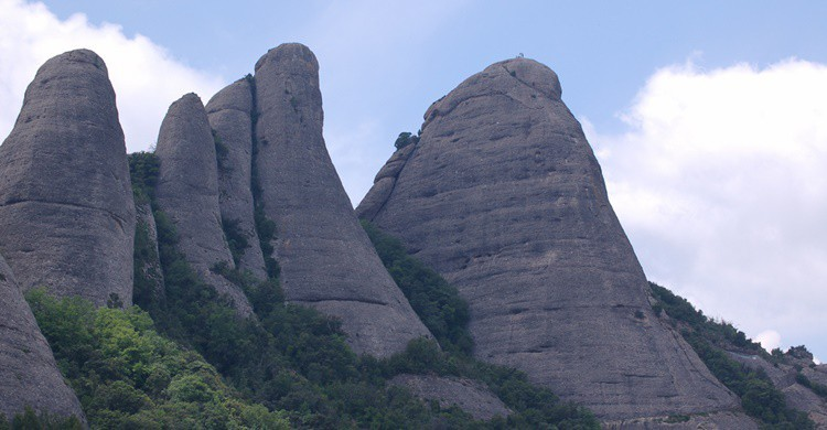 Macizos en Montserrat. Papapep (Flickr)