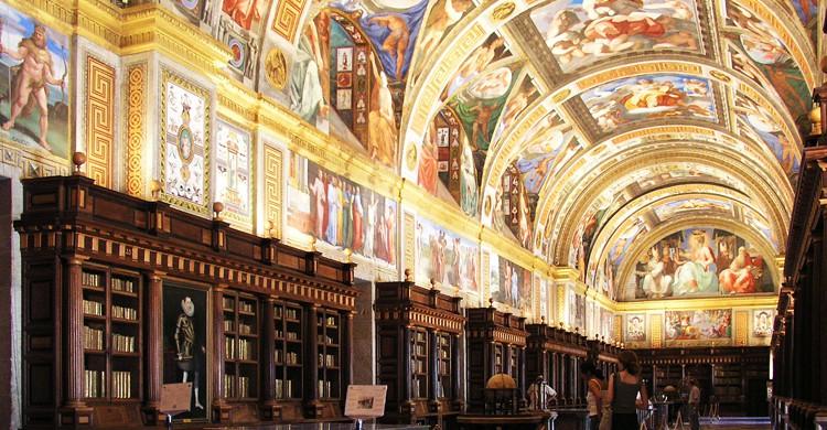 Biblioteca del Monasterio de San Lorenzo de El Escorial (Wikimedia.org)