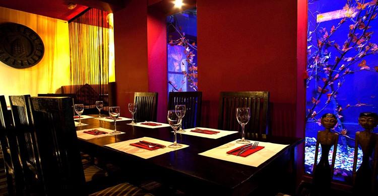 Interior del local. Restaurante Mestizo