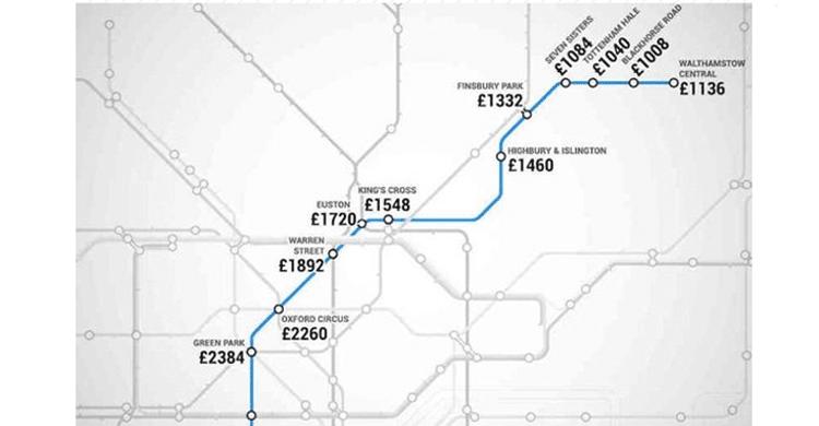 metro Londres / Victoria line (www.shortlist.com)