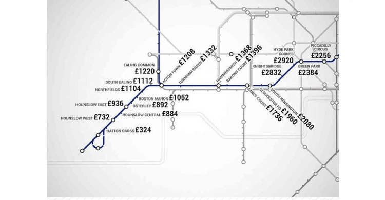 Metro Londres precios alquileres (www.shortlist.com)