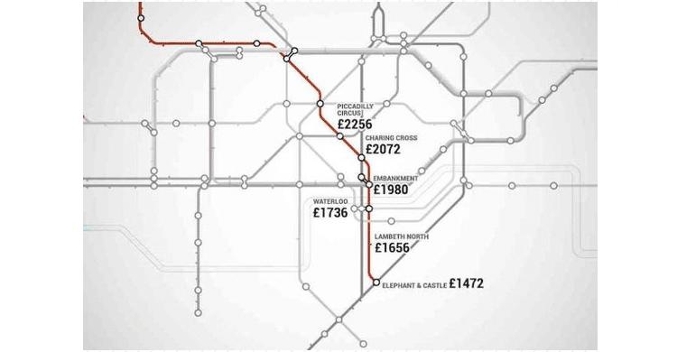 metro Londres / línea Bakerlo (www.shortlist.com)