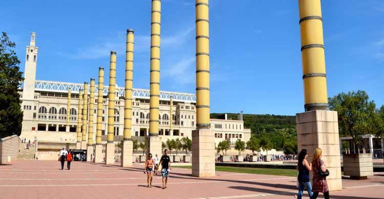 Alrededores del Palau Sant Jordi en Montjuic (Barcelona)