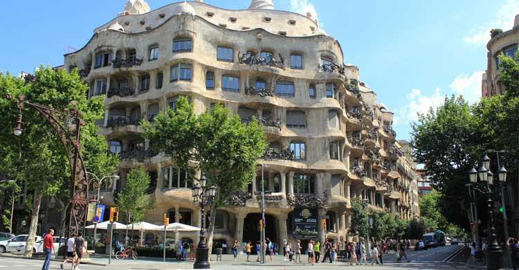 Paseo de Grácia en Barcelona (Flickr)