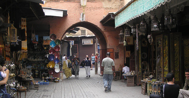 Calle de Marrakech. Francisco Restivo (Flickr)