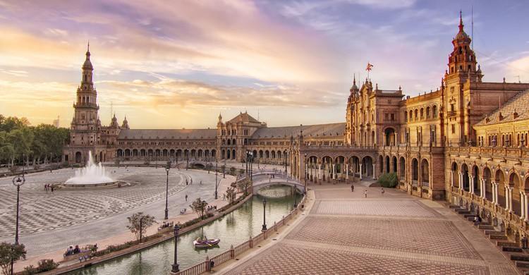 Plaza de España de Sevilla. Francisco Colinet (Flickr)