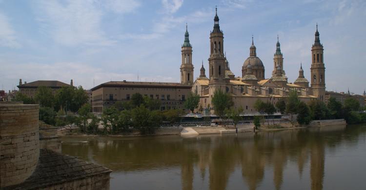 Río Ebro y Basílica del Pilar. Ἀλέξ (Flickr)