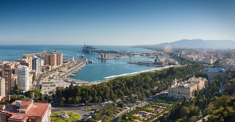 Vista aérea parcial de Málaga. Paolo Trabattoni (Flickr)