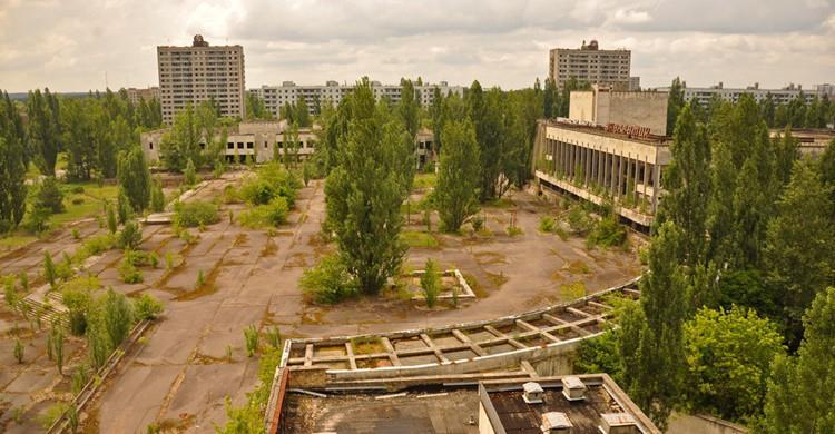 Vista de Prípiat, en Ucrania. Jennifer Boyer (Flickr)