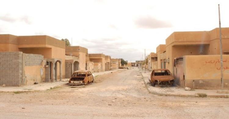 Ciudad abandonada de Tawergha. (BBC)