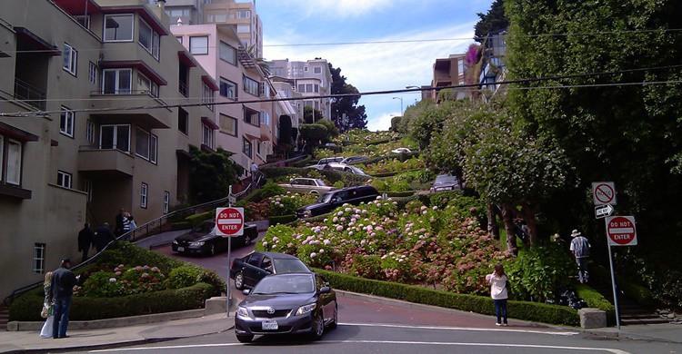 Lombard Street, en San Francisco. Long Zheng (Flickr)