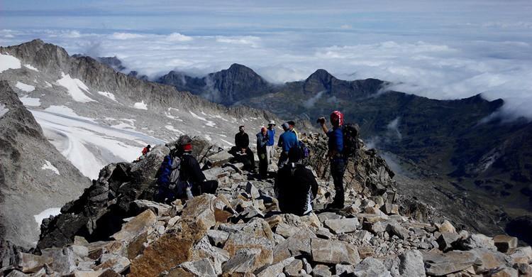 Alpinistas en el Monte Aneto. Oscar Nuño Isla (Flickr)