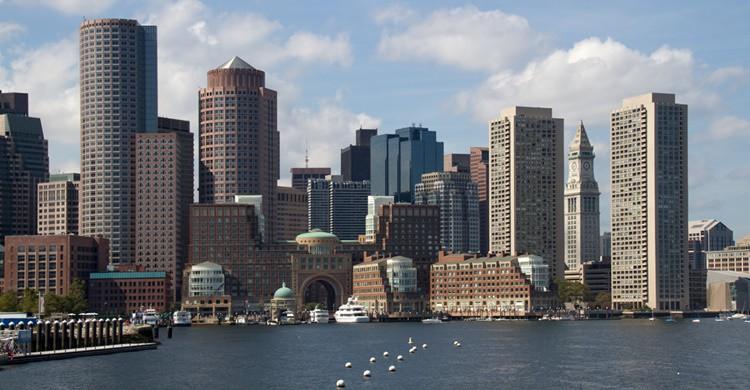 Vista de los rascacielos de Boston. Tony Hisgett (Flickr)