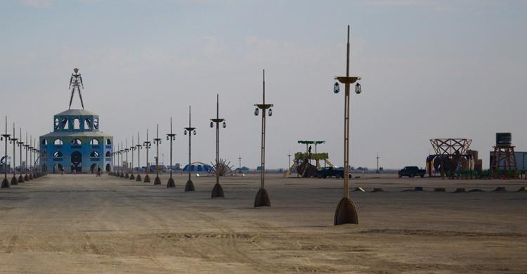 Estructuras para quemar en el Burning Man. Hawaii Savvy (Flickr)