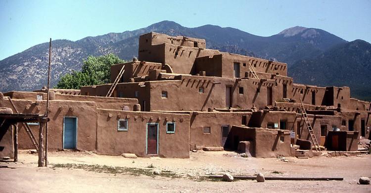 Casas características de Taos. John W. Schulze (Flickr).
