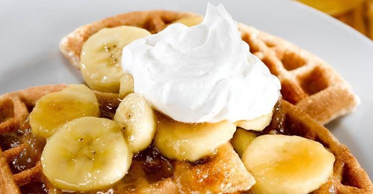 Gofre de Nutella, plátano y nata. Belgious, Facebook