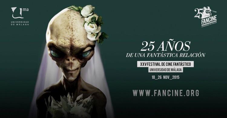 Cartel de la edición XXV del Festival de Cine Fantástico de la Universidad de Málaga