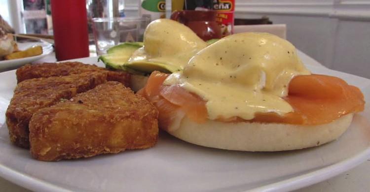 Huevos benedictinos (Facebook de La Gringa)