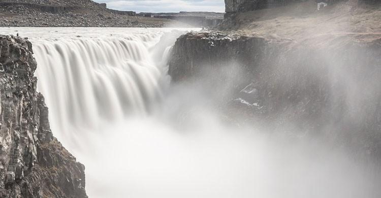 Cascada Detifoss, Islandia (Flickr)