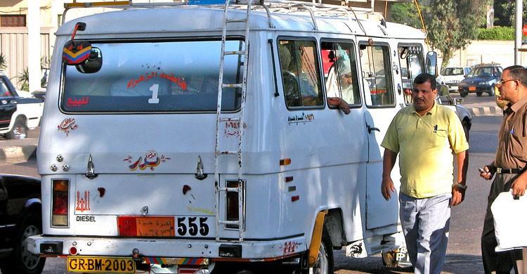 Transporte público en El Cairo, Egipto (Flickr)
