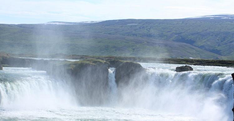 Cascada Godafoss, Islandia (Flickr)
