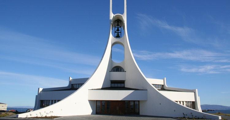 Iglesia de Stykkishólmur en Islandia (Flickr)