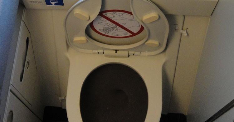 Curiosidades sobre el WC de los aviones (Flickr)