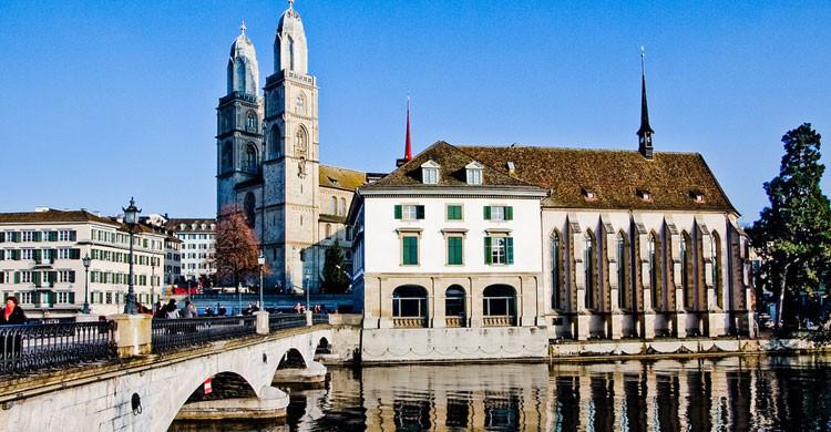 La Catedral de Zúrich, Suiza (Flickr)