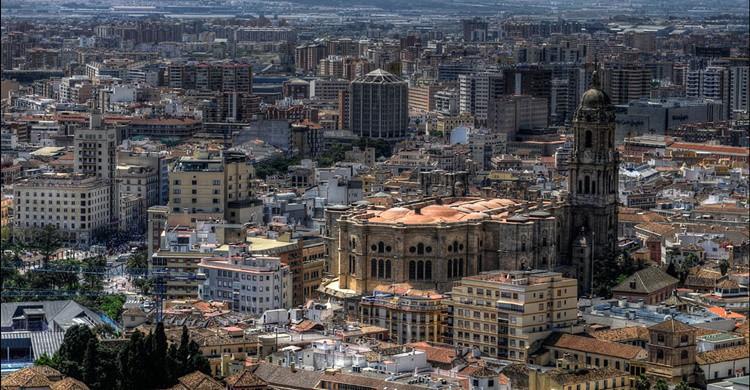 Vista parcial de Málaga, con su catedral en primer término. Thomas Münter (Flickr)
