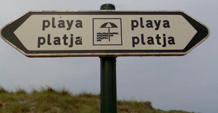 Señales para ir a la playa en la Albufera. Sento (Flickr)