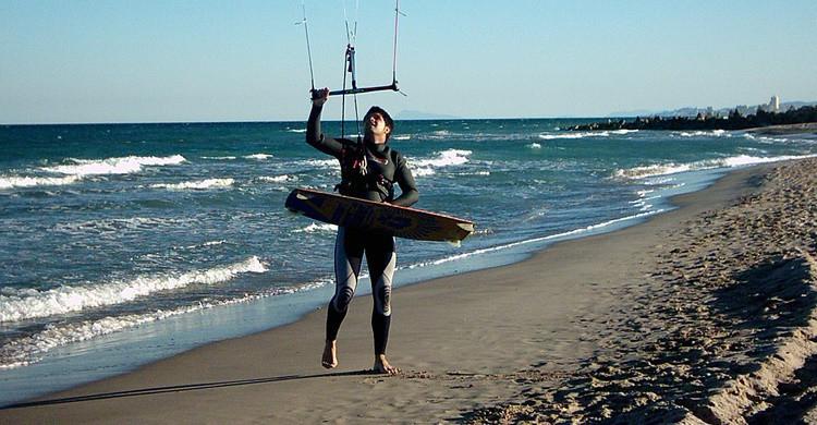Deportes en una playa de Valencia. Manel (Flickr)
