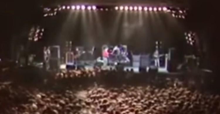 Captura de vídeo del concierto de The Smiths (www.rtve.es).