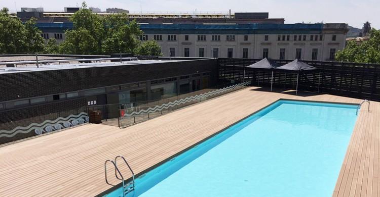 Apertura de la piscina descubierta. CEM Parc De La Ciutadella (Facebook)