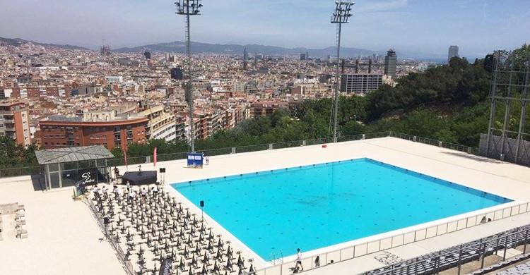 Vista de la piscina. Bernat Picornell (Facebook)