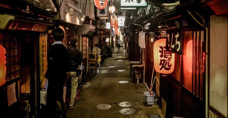calle de de bares de Tokio