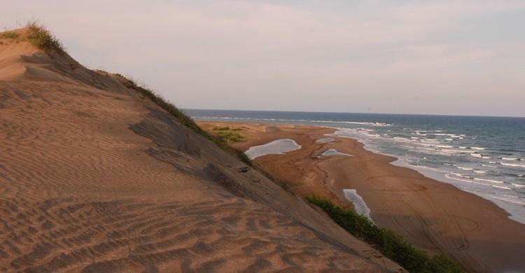 Playa de Chachalacas con sus dunas. Mario Paredes (Flickr).