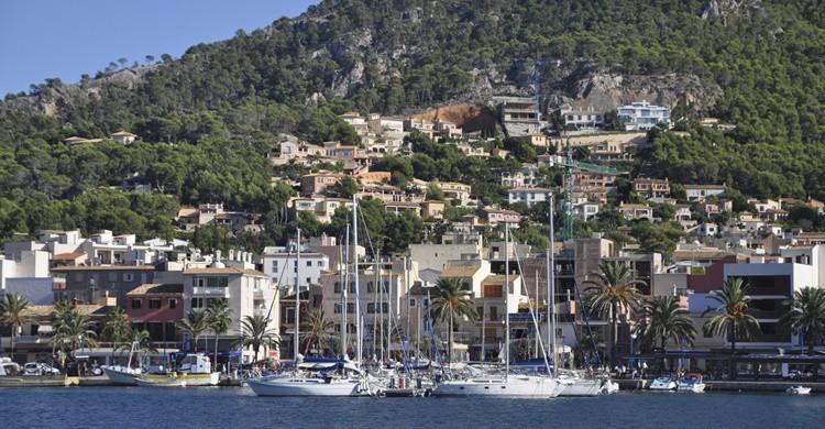 De fondo, parte de las villas que forman Port d'Andratx. Vora (iStock)