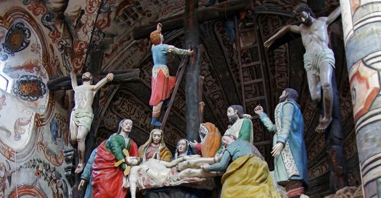 Escultura religiosa en San Miguel de Allende. Patrick Denker (Flickr)