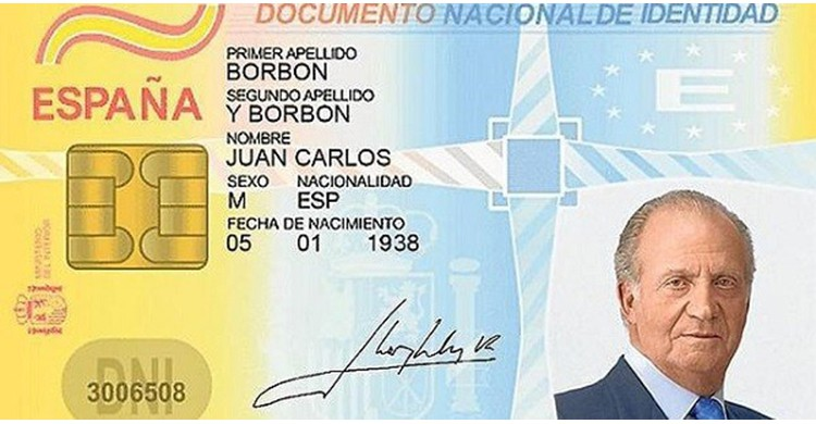 El DNI de Rey Juan Carlos (Youtube)