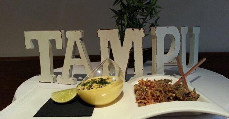 Presentación de plato. Tampu (Facebook)