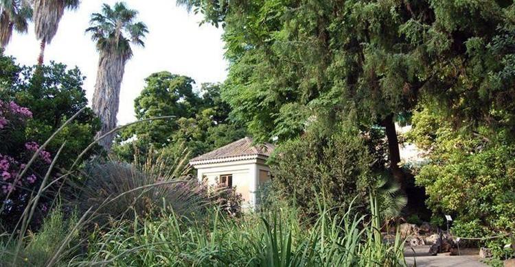 Una de las casetas del parque. Jardí Botànic de la Universitat de València (Facebook)