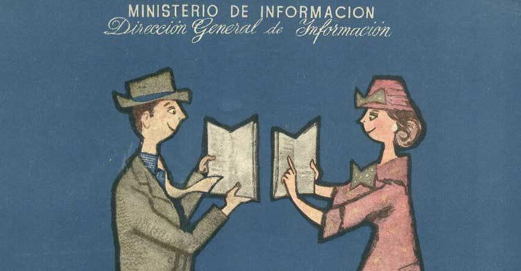 Detalle del carte de la Feria del Libro de Madrid de 1957 (ferialibromadrid.com)