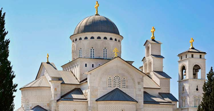 Catedral ortodoxa de la Resurrección de Cristo, en Podgorica (iStock)