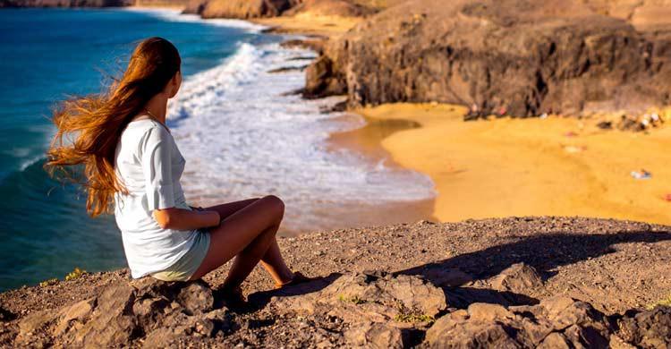 Playa de Papagayo en Lanzarote (iStock)
