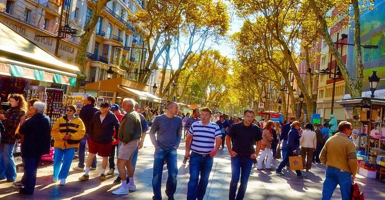 Las Ramblas de Barcelona (Flickr)