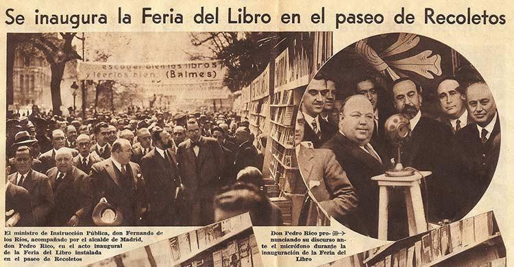La primera Feria del Libro de Madrid se celebró en 1933 (ferialibromadrid.com)